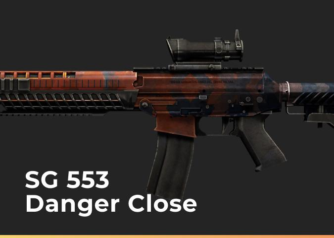 SG 553 Danger Close (Minimal Wear)