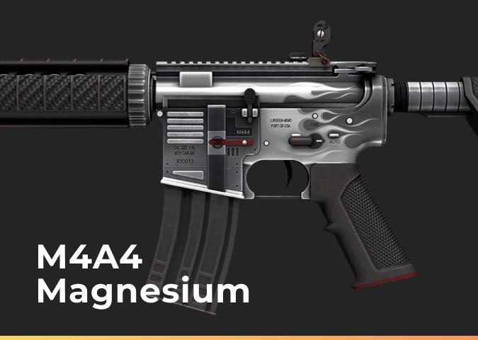 M4A4 Magnesium (Well-Worn)
