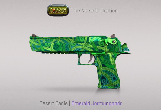 deseart eagle emerald jormungandr