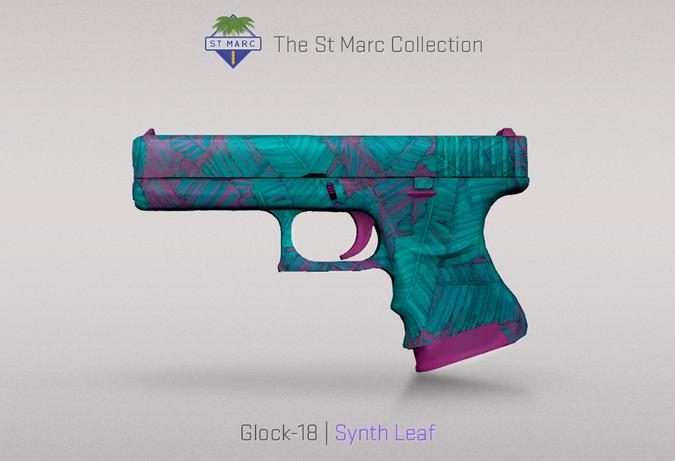 glock 18 synth leaf