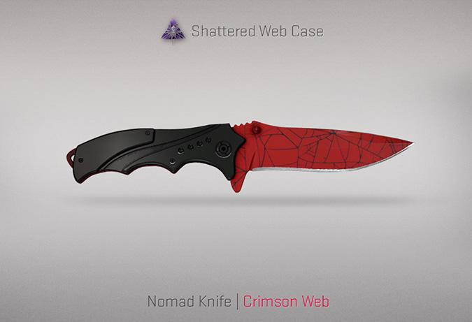 nomad knife crimson web