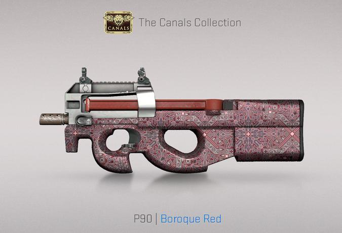 p90 boroque red