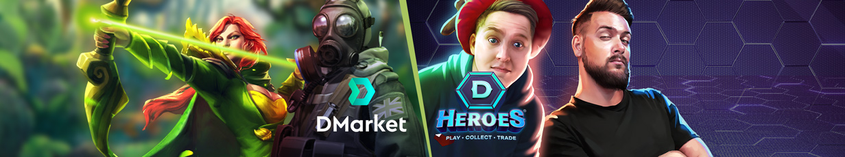 DMarket Update Wrap-Up: DHeroes Cards Unpacking and DMC/USD Switch Option