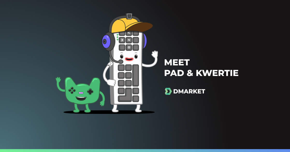Meet Pad and Kwertie, DMarket Official Mascots