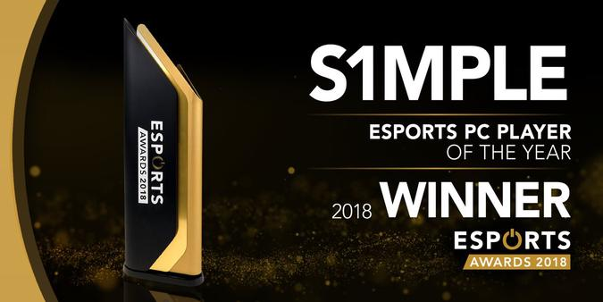 S1mple Best PC Player of the Year