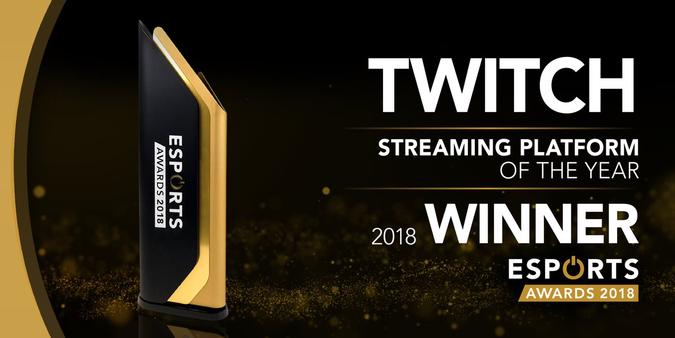 Esports Awards Best Streaming Platform of 2018