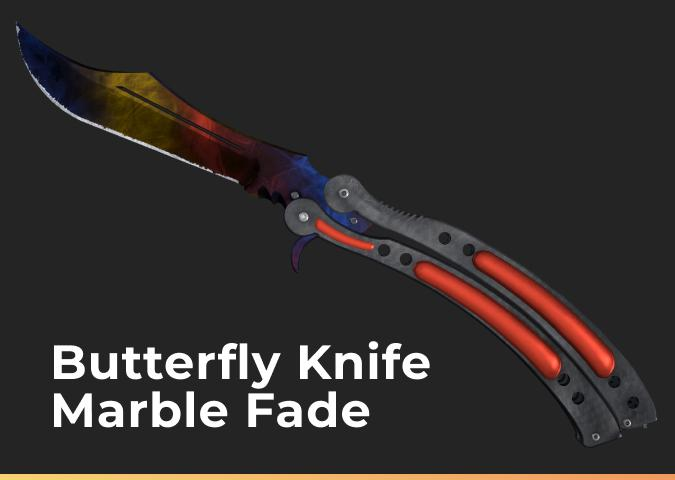 Butterfly Knife Marble Fade