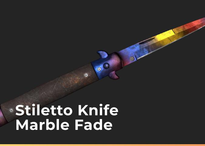 Stiletto Knife Marble Fade